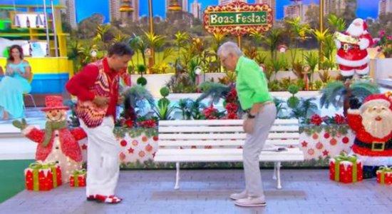 Paulinho Gogó 'zoa' Carlos Alberto de Nóbrega: '' Você é o que melhor dança mal''
