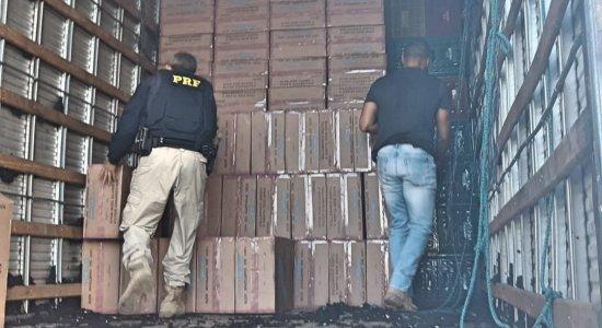 Homens são detidos com carga de cigarro contrabandeada em Petrolina