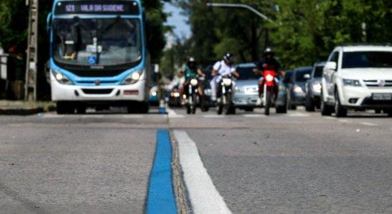 CTTU implanta segunda etapa da Faixa Azul na Av. Mascarenhas de Moraes