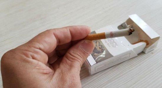 Cigarro utilizado por um dos homens presos pela polícia