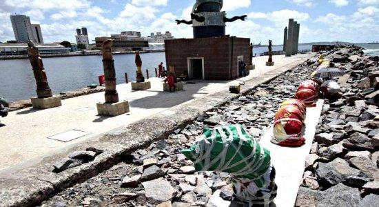 Parque das Esculturas, em frente ao Marco Zero, na área Central do Recife