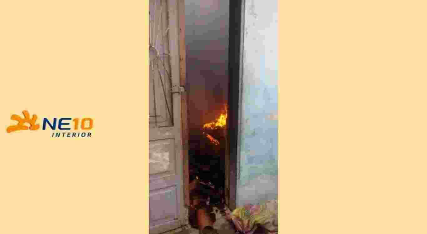 Homem é suspeito de atear fogo na casa da ex-companheira