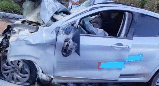 A vítima estava sozinha no veículo