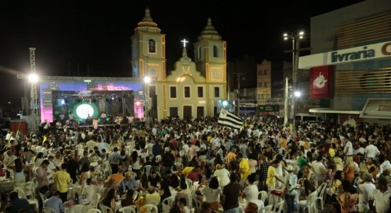 Festa de ano novo no Marco Zero de Caruaru