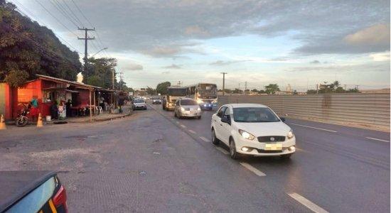 Ciclista fica ferido após colisão envolvendo ônibus em Jaboatão dos Guararapes