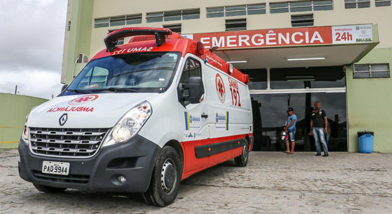 Vítimas foram atendidas no Hospital Municipal de Gravatá
