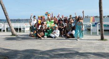 Alegria e empolgação do elenco da TV Jornal para gravar o clipe do Carnaval 2020