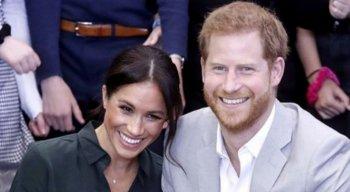Príncipe Harry e Meghan Markle em evento social