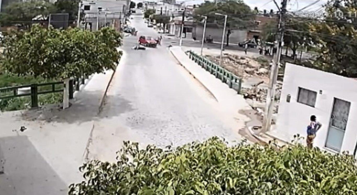 Vídeo mostrou momento do acidente