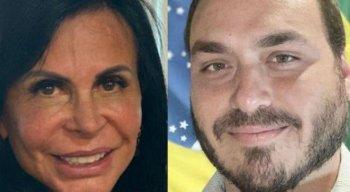 Gretchen e Carlos Bolsonaro