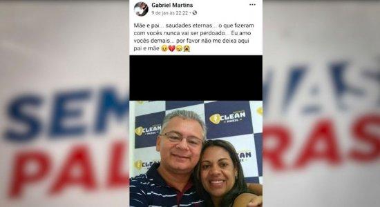 Suspeito publicou mensagem nas redes sociais dizendo que estava com saudades das vítimas