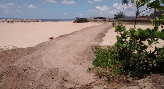 Abertura de pista na faixa de areia de Barra de Jangada gera polêmica