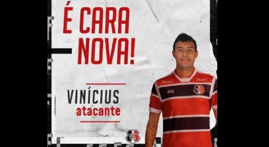 Sem estrear, Vinícius deixa Santa Cruz rumo ao futebol Grego