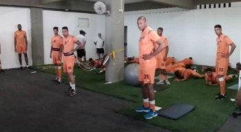 Tiago Cardoso treinou nesta quarta-feira. Foto: Diego Borges/Editoria de Esportes