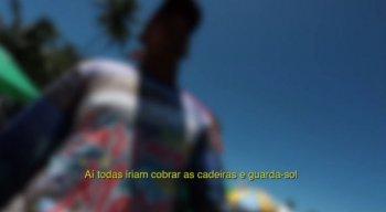 A lei não está sendo respeitada na praia de Porto de Galinhas e a fiscalização também não acontece