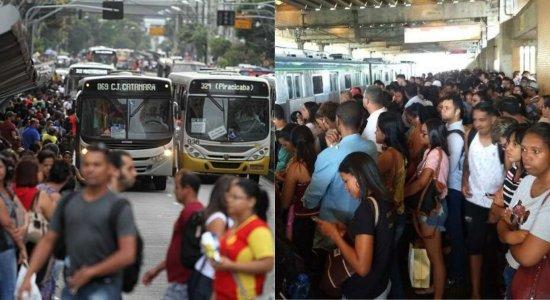 Recife entre os piores deslocamentos de ônibus e metrô do mundo, diz pesquisa