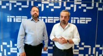 Presidente do Inep, Alexandre Lopes, e o ministro da Educação, Abraham Weintraub