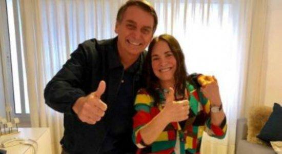 Regina Duarte aceita convite de Bolsonaro e inicia período de testes na Secretaria Especial de Cultura