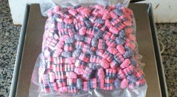 Polícia Federal apreendeu 512 comprimidos de ecstasy