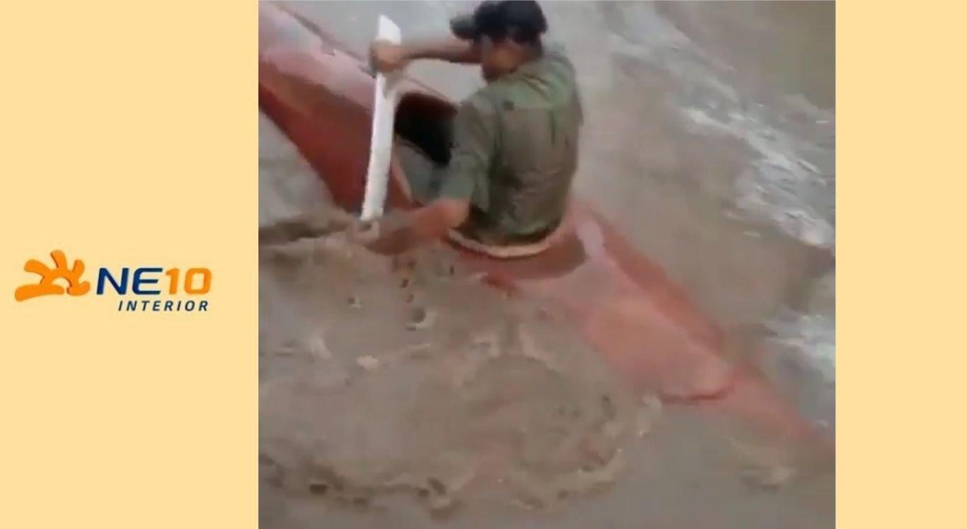 Vídeo chamou atenção nas redes sociais após fortes chuvas na região