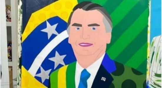 Romero Britto faz homenagem a Bolsonaro e quadro vira meme