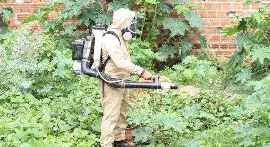 As equipes percorreram o bairro visitando as residências e eliminando criadouros do Aedes Aegypt