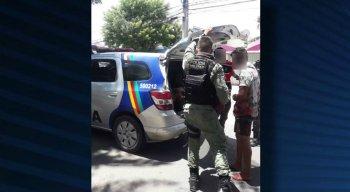 A troca de tiros terminou com a prisão dos suspeitos