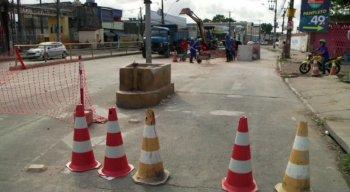 Trechos da via já foram interditados. As obras de reforma começaram nessa segunda-feira (3)