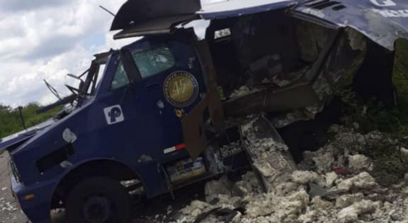 Carro-forte foi explodido entre Serrita e Moreilândia