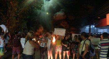 O protesto é devido à morte da fotógrafa Leandra Jennifer