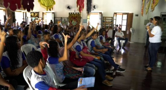 Carnaval: estudantes de Olinda participam de ação contra violência