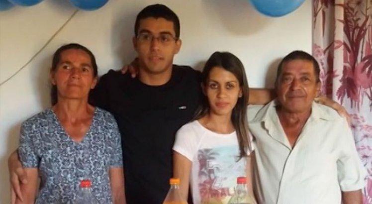 Família vitimada pela tragédia em Lagoa do Paulista: apenas o jovem sobreviveu