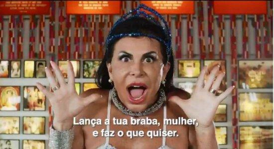 Gretchen estrela campanha da Prefeitura do Recife contra assédio