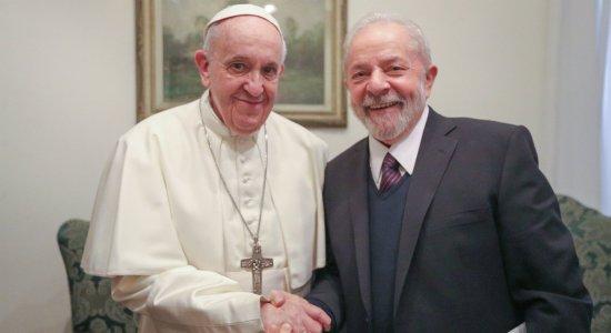 Ex-presidente Lula visita o Papa Francisco no Vaticano