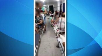 O vídeo da superlotação no Hospital da Restauração foi enviado para a TV Jornal