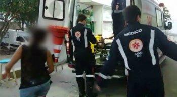 A vítima, de 32 anos, foi encaminhada ao Hospital Regional do Agreste.