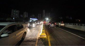 As obras da ponte da Avenida Fagundes Varela, em Olinda, foram concluídas