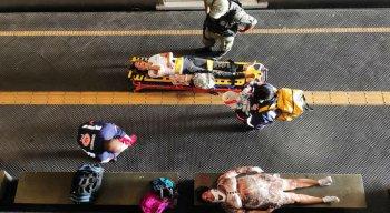 A colisão entre trens do metrô do Recife deixa várias pessoas feridas