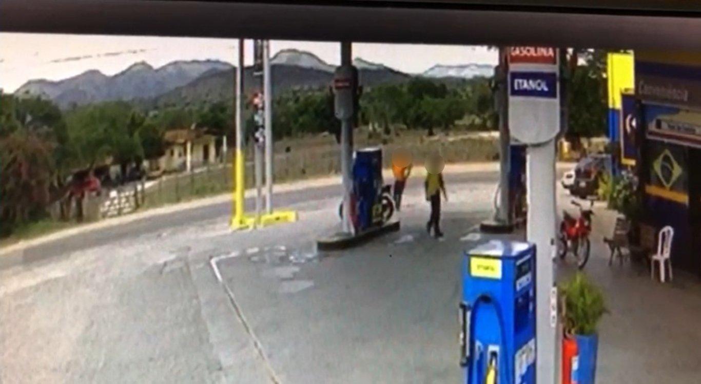 Vídeo mostra assalto a posto de gasolina em Altinho