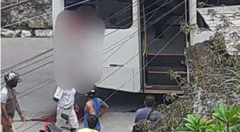 A vítima foi atingida por um poste