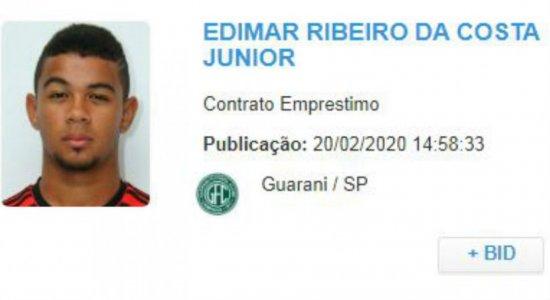 Nome de Juninho sai no BID e atacante está emprestado ao Guarani-SP