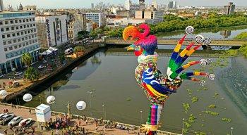 Em 2020, é a 42ª vez em que o Galo Gigante vai arrastar uma multidão de foliões pela ruas do Recife