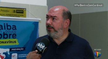 O secretário de saúde do Recife, Jailson Correia, concedeu entrevista durante o programa Por Dentro com Cardinot