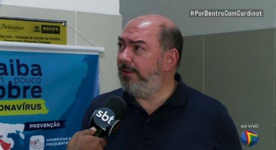 Coronavírus mata mais que infarto e AVC, afirma secretário de Saúde do Recife