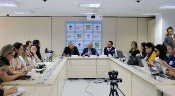 Coletiva de imprensa do Ministério da Saúde sobre o Covid-19