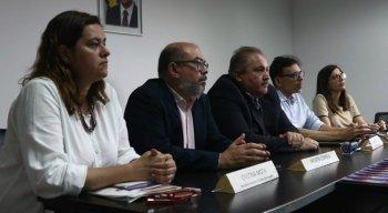 Coletiva de imprensa da Secretaria Estadual de Saúde sobre o coronavírus