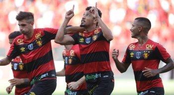 Hernane comemora gol marcado pelo Sport na partida contra o Afogados