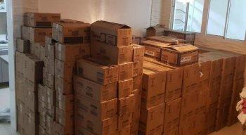 A carga de chocolate roubada foi localizada pela PM