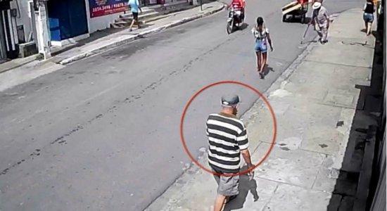 Câmera flagra idoso desaparecido em Ponte dos Carvalhos