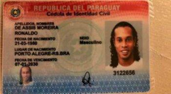 Documento paraguaio de Ronaldinho Gaúcho que foi apreendido